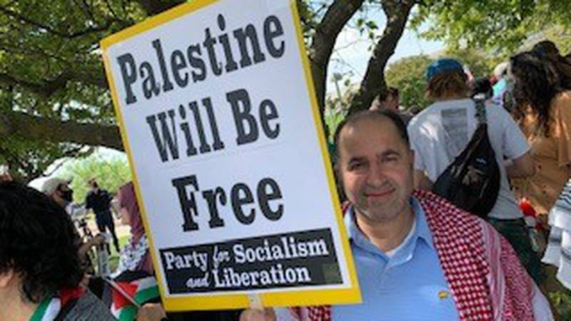 A Pro-Palestinian Rally was held in Louisville on Sunday