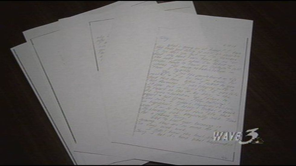 Copies of letters from the inmates.