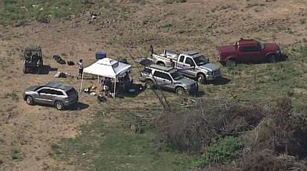 Several pop-up tents are on the property. (Source: Air 3/WAVE 3 News)