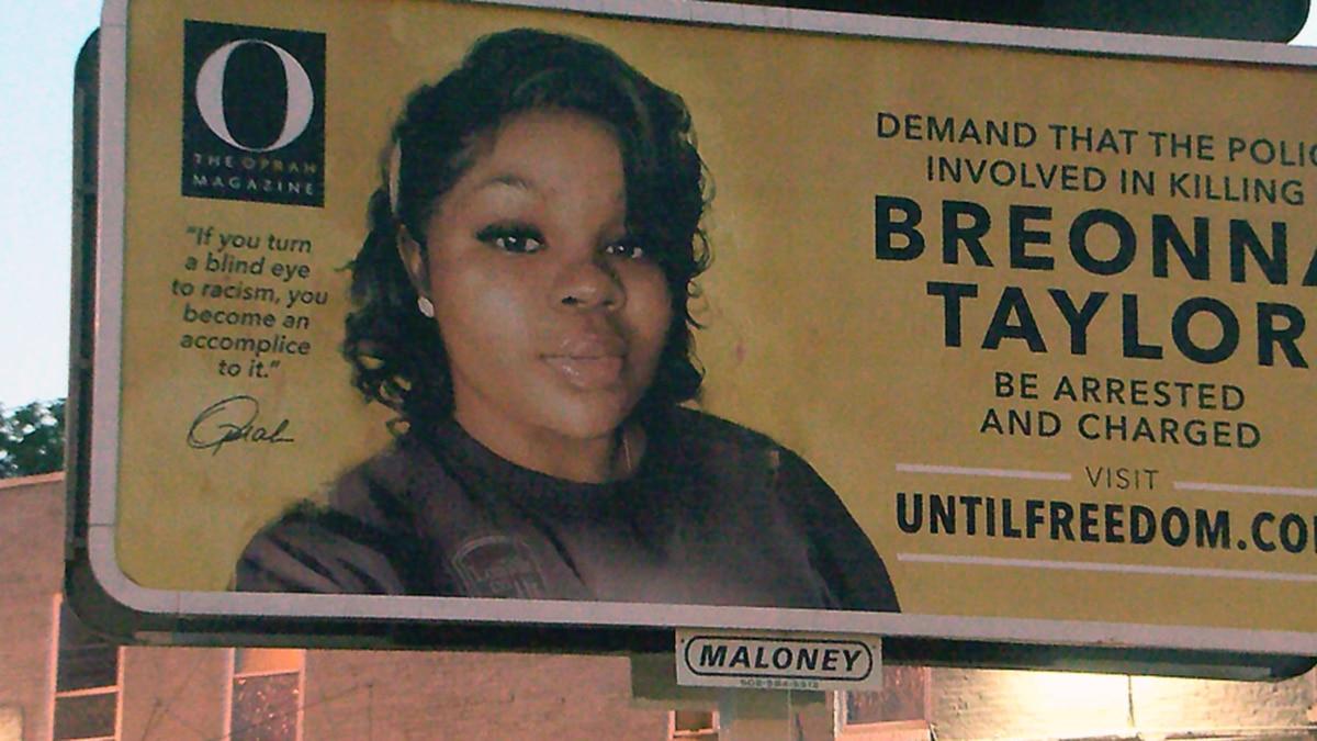 Oprah Winfrey is having dozens of billboards installed around Louisville calling for justice...