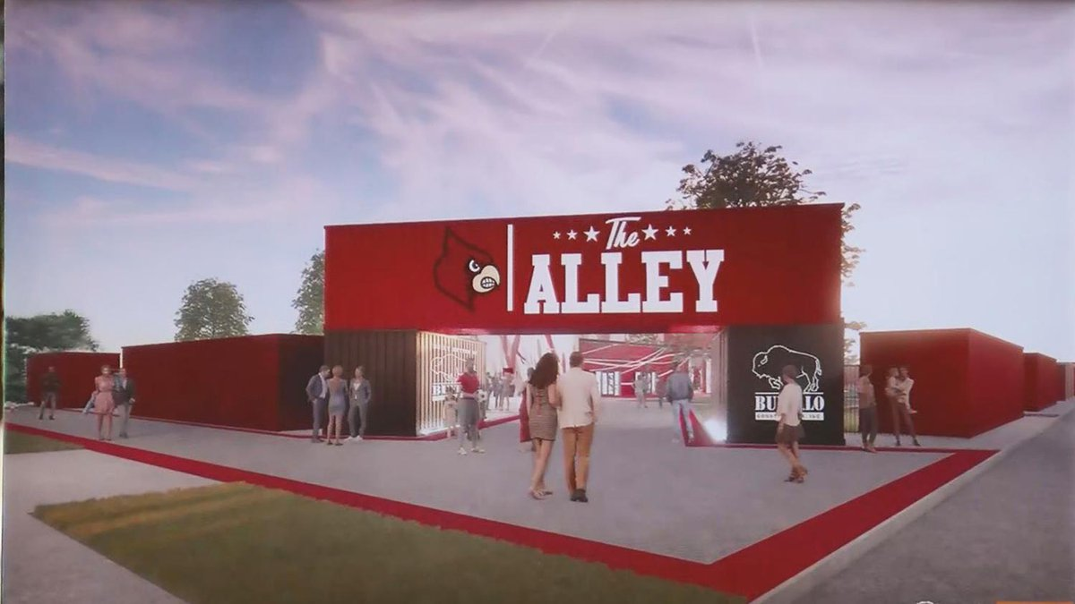 A street level view of the main entrance to The Alley, the new football tailgating area for...