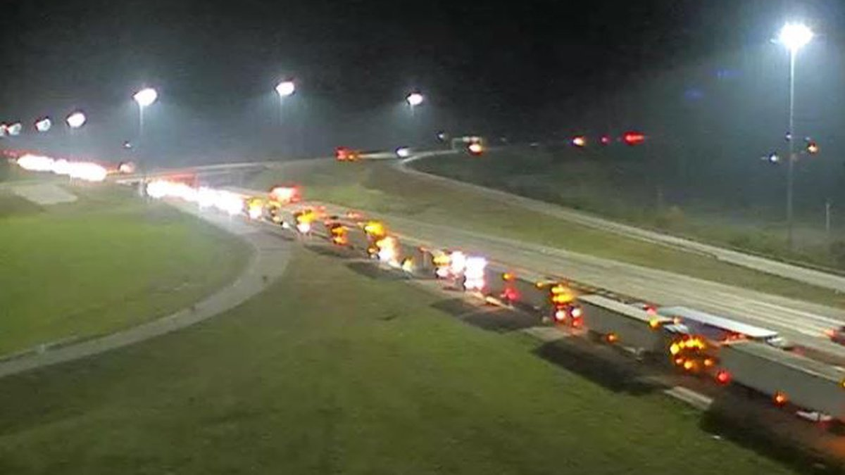 Traffic is backed up from the crash on I-65 North, near the 106 mile marker.