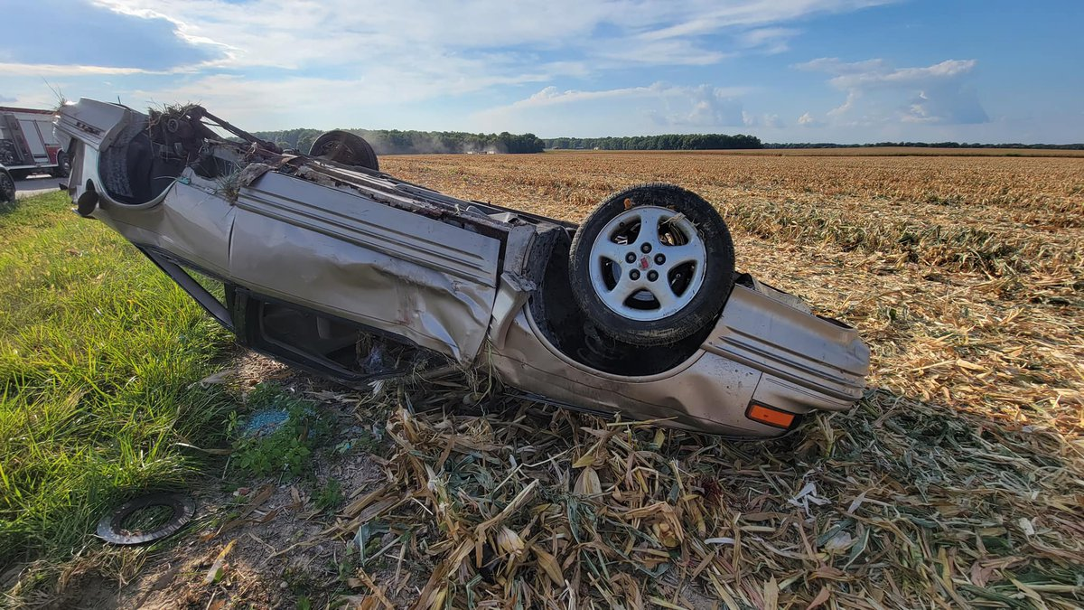 Jennings County Sheriff's Office confirmed one man has died after a single vehicle rollover...