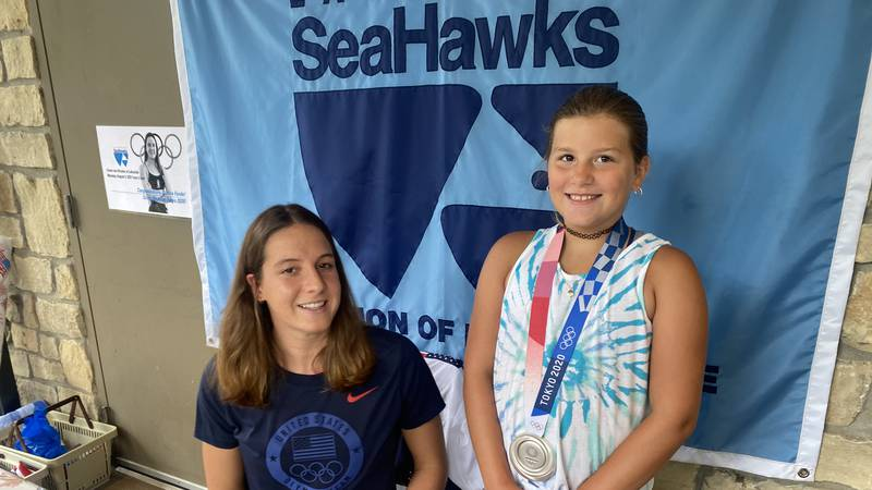 U.S. Olympic swimmer Brooke Forde return to Lakeside Swim Club with her silver medal from Tokyo.