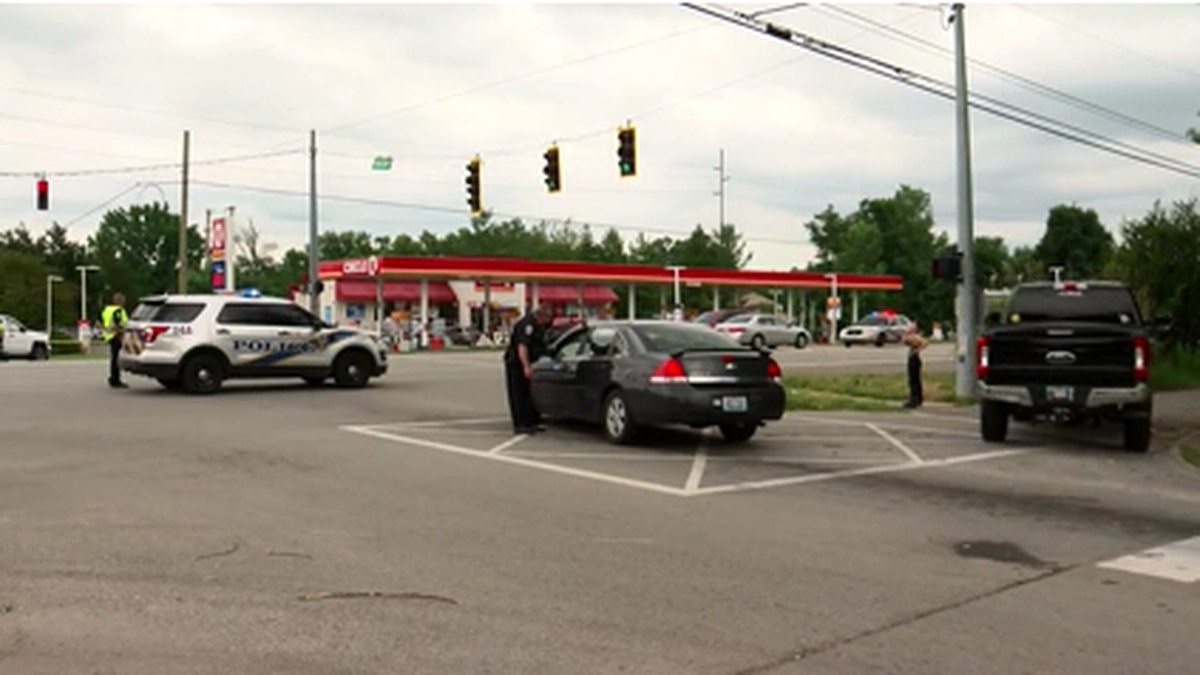 A motorcycle rider was killed in a crash with a vehicle near a gas station.