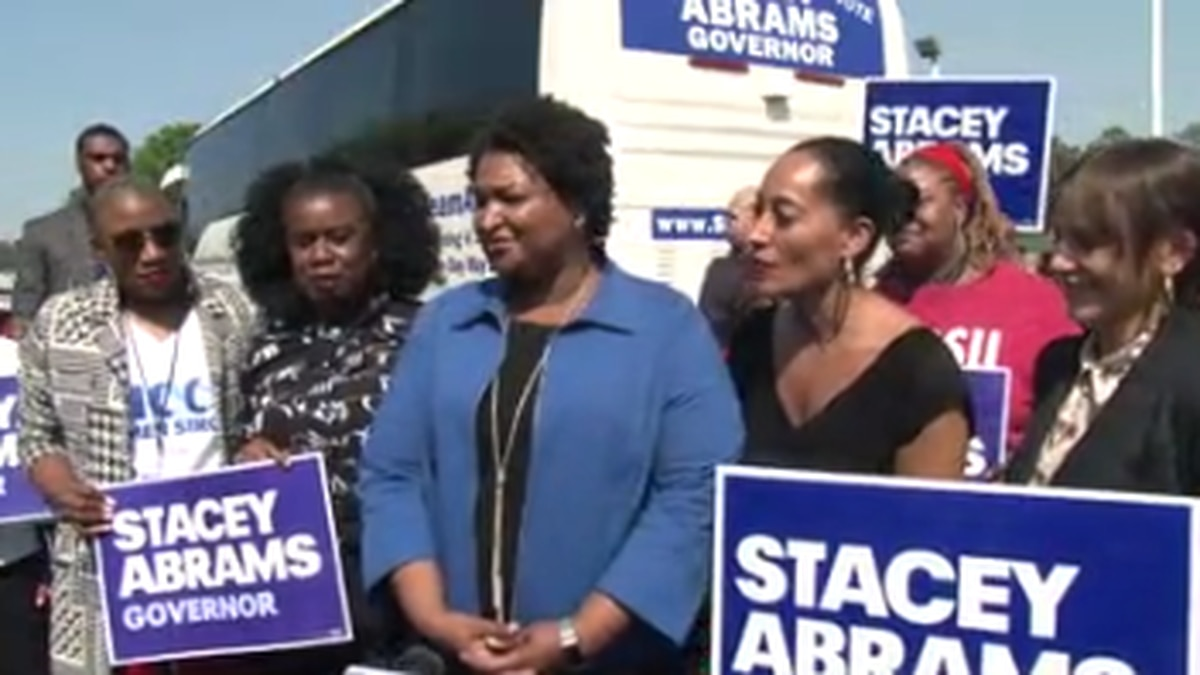 I Count Bus Tour kicks off at Carver High School in Columbus with Stacey Abrams