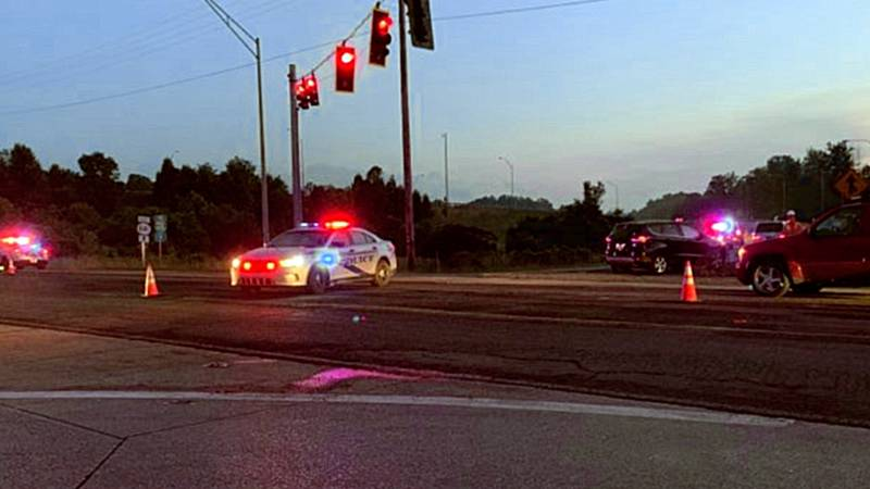 A Metrosafe spokesperson said it happened around 8:45 p.m. where the freeway meets New Cut Road.