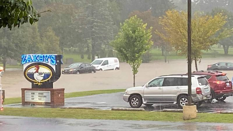 Flooding along N. 3rd Street in Bardstown.
