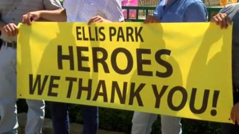 Ellis Park recognizes heroes who saved horses during barn fire