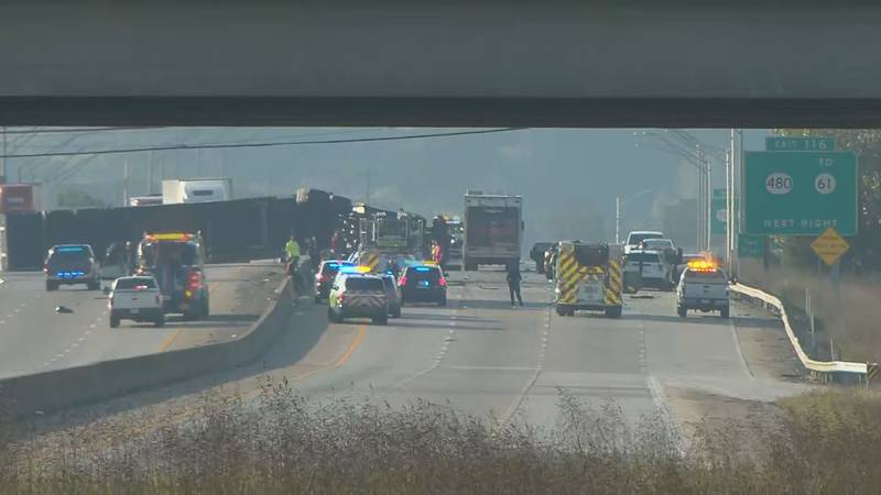 Traffic in both directions of Interstate 65 was brought to a standstill in Bullitt County...