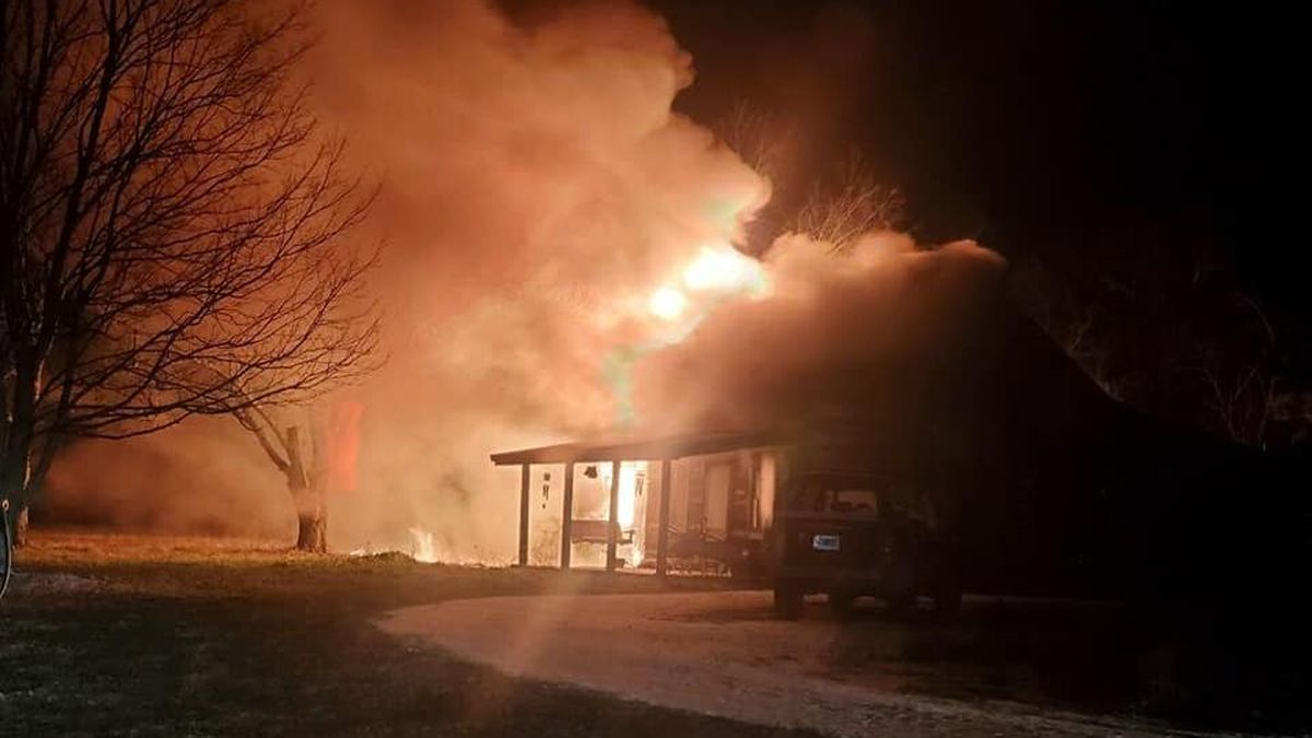 The Shelby County Fire Department worked to battle a heavy structure fire early Christmas...