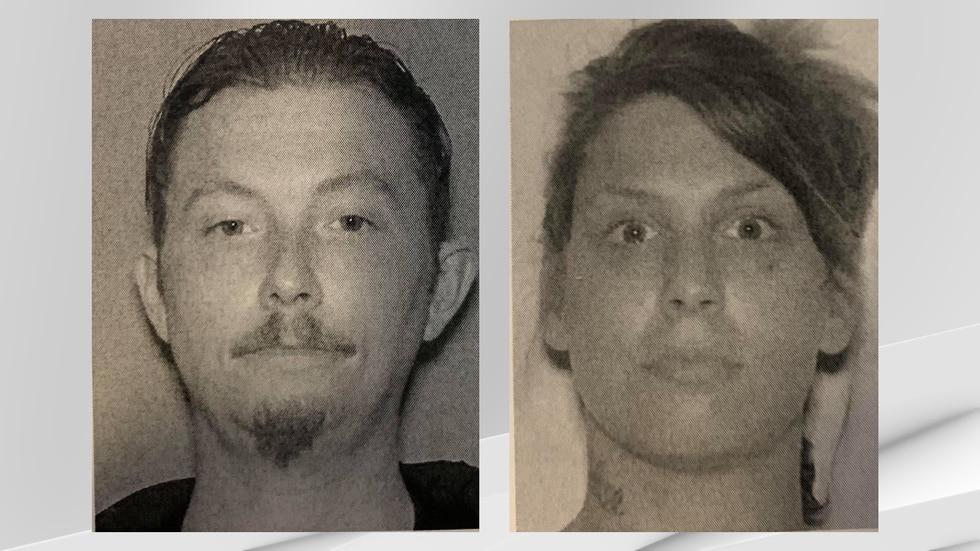 Blake Eldridge (left) and Megan Hypes (right) have been charged after a multi-county police...