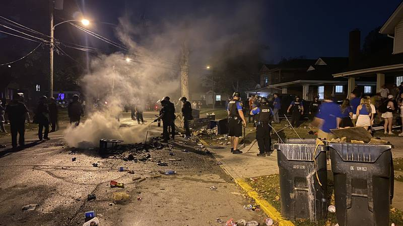 State Street is the traditional spot for couch burnings and rowdy celebrations, which were...
