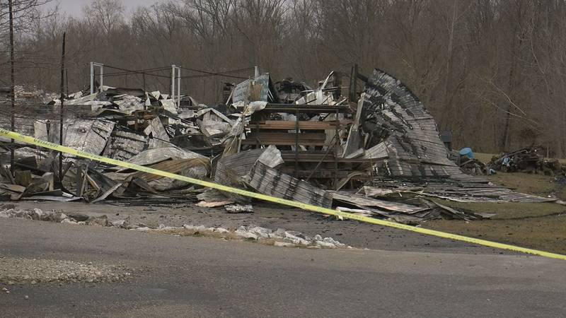 The fire destroyed two buildings at Crane Hill Machine and Fabrication in Seymour.