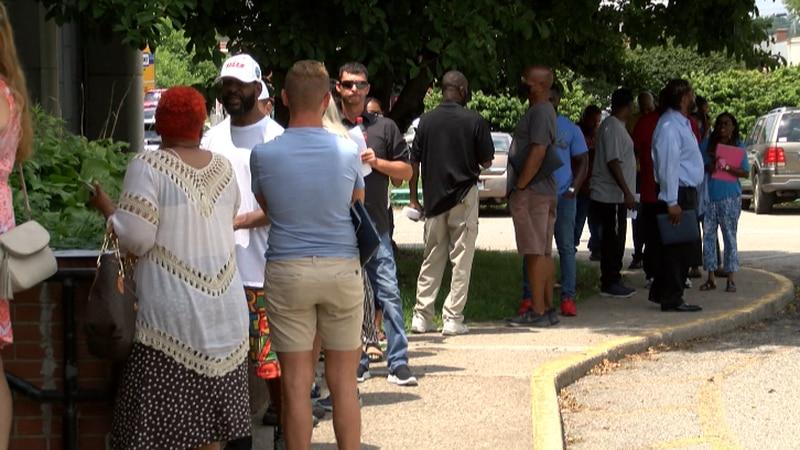 Dozens showed up to Wednesday's JCPS job fair.