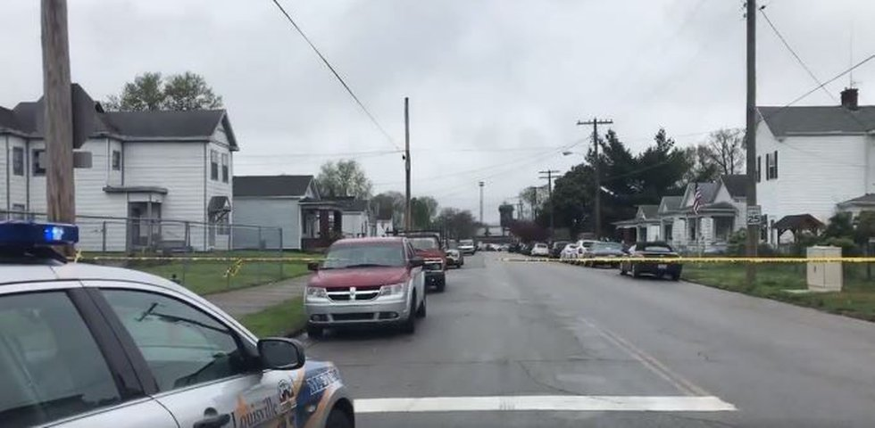 This was the crime scene at 29th and Xavier Streets. (Source: WAVE 3 News)