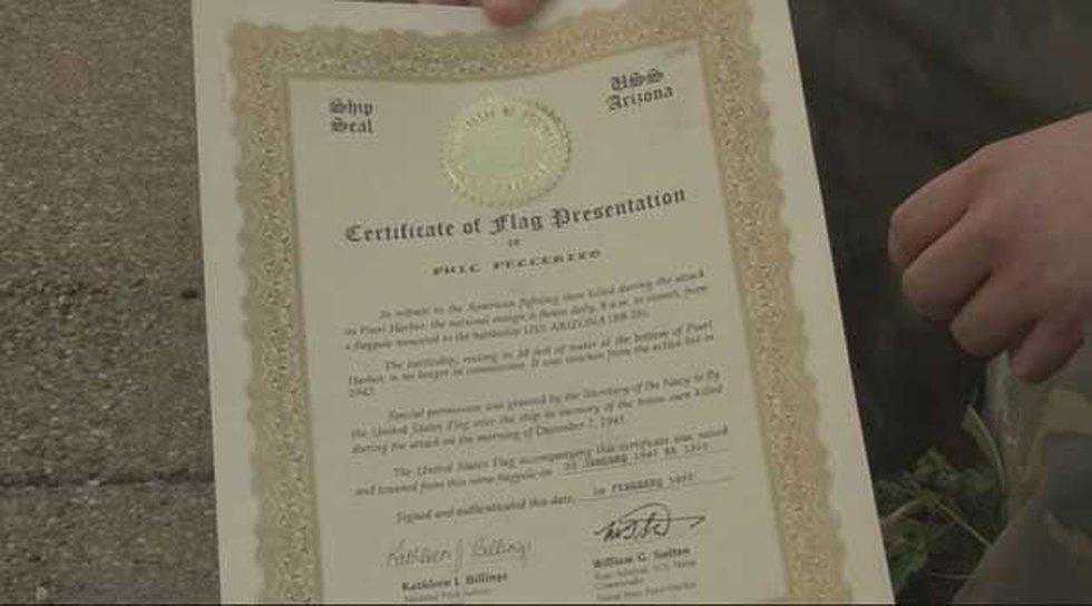Certificate of Flag Presentation