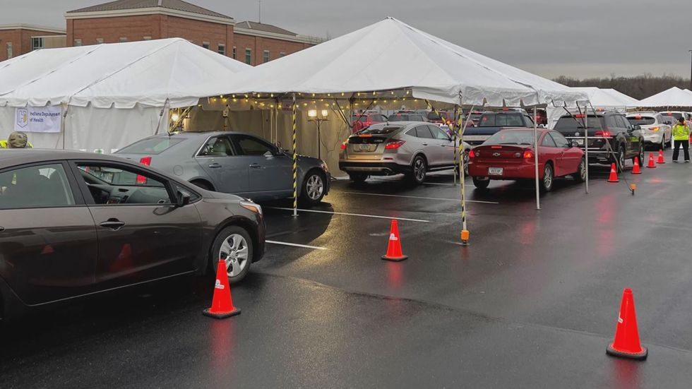 The Johnson & Johnson mass vaccination clinic in Sellersburg opened for Indiana residents at...