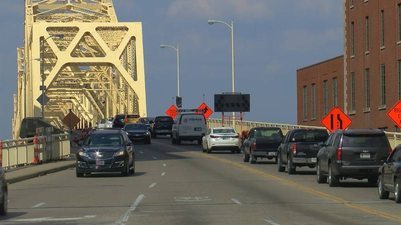 The project to paint the Clark Memorial Bridge, also known as the Second Street Bridge is...
