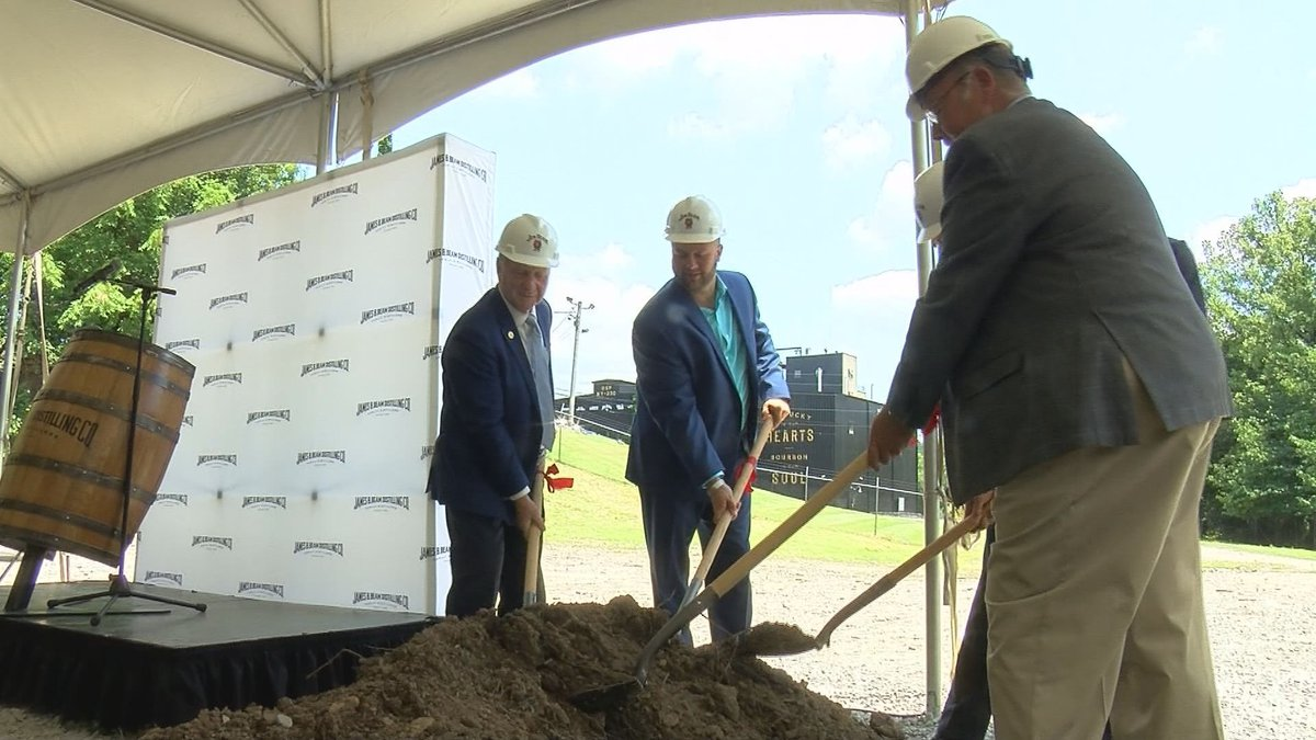 The groundbreaking for the new Jim Bean distillery was Thursday. (Source: WAVE 3 News)