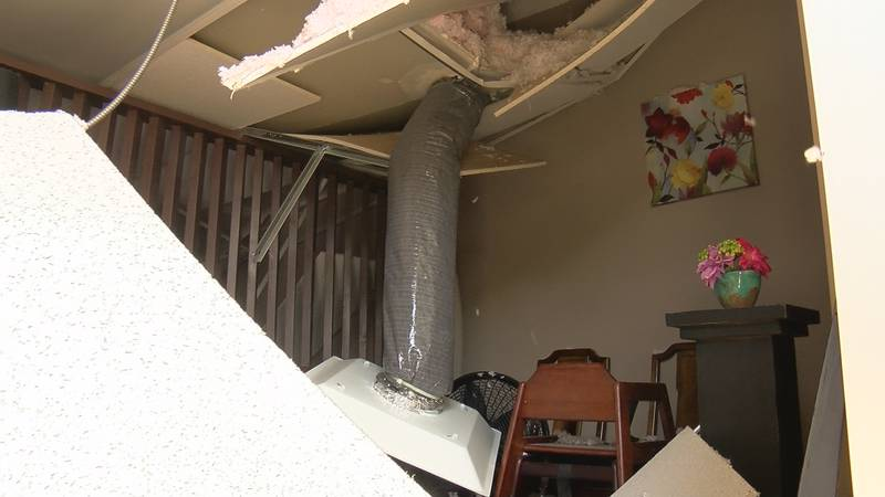 Charim said the roof started to come down while customers were inside.