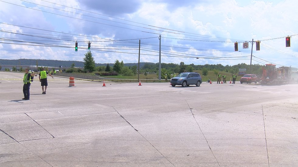 The gas leak was reported at the intersection of Outer Loop and Air Commerce Drive where a...
