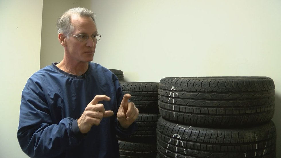 Peter Benson has been selling tires for more than three decades. (Source: WAVE 3 News)
