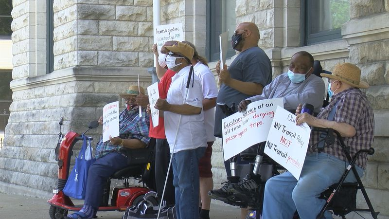 Disabled riders, advocates protest TARC 3, call for termination of paratransit contract