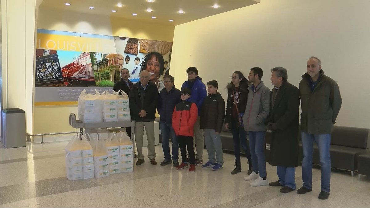 Members of Muslim Americans for Compassion brought meals and gift cards to TSA employees going...