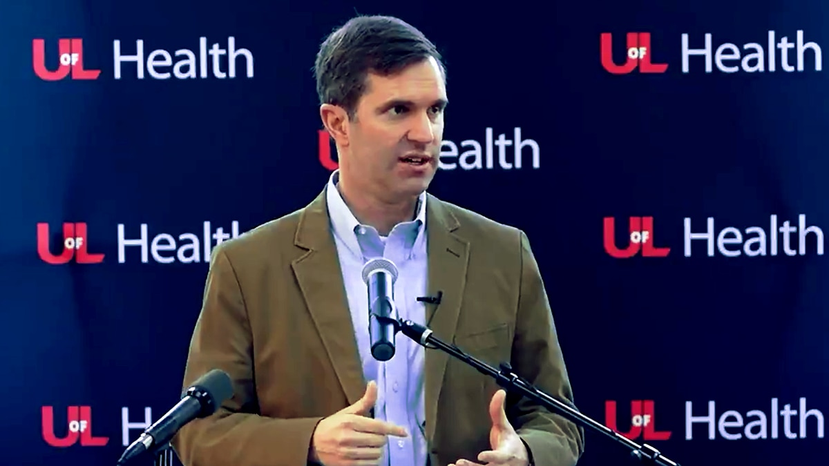 Gov. Andy Beshear on March 27, 2021 at a vaccination event hosted by UofL Health.