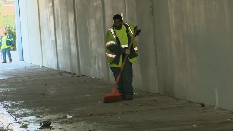 Metro Government cleans up under the Jackson St overpass