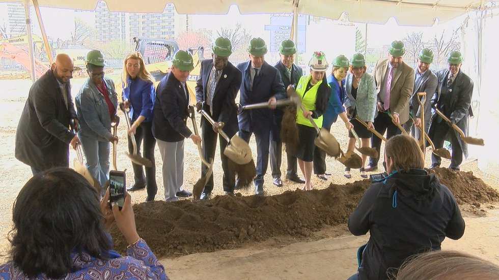 Mayor Greg Fischer joined Congressman John Yarmuth and others in the groundbreaking ceremony....