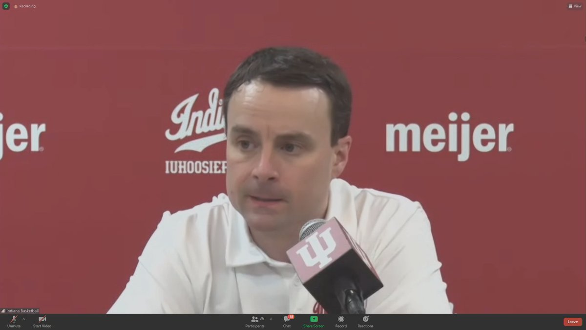 IU head coach Archie Miller