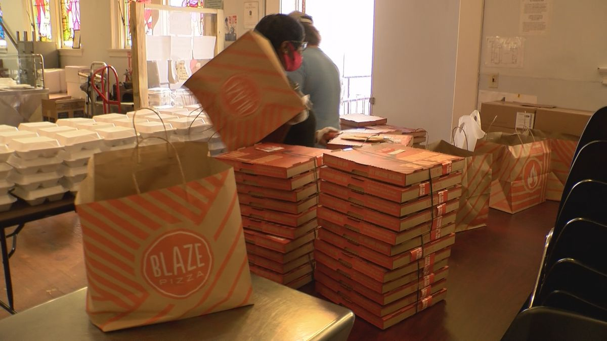 The restaurant donated 100 boxes to St. Vincent de Paul for the GiftAPlate program.