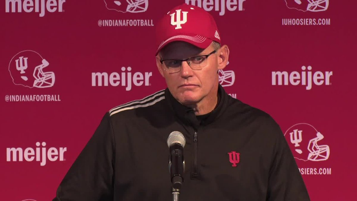 Indiana University head football coach Tom Allen