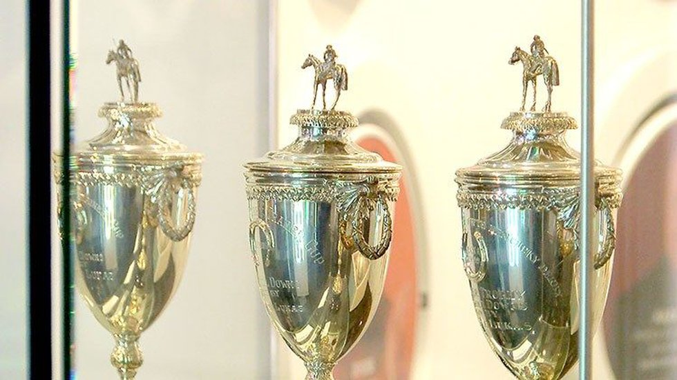 Trophies at the Kentucky Derby Museum Winning Colors exhibit. (Source: Justin Hawkins/WAVE 3...