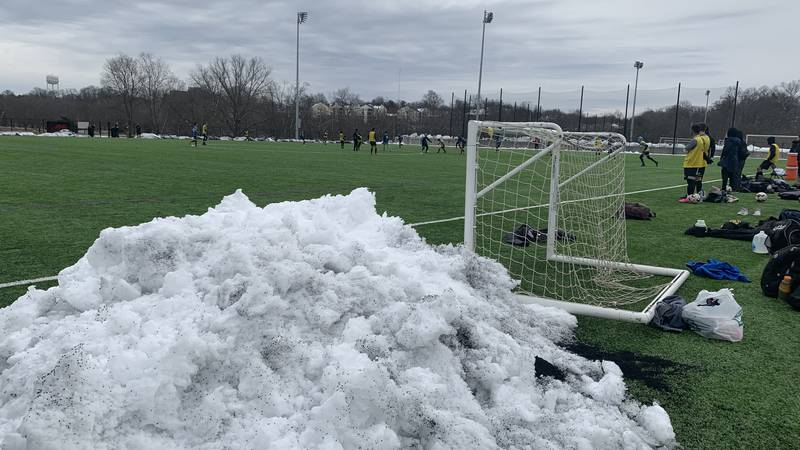 Snow and cold weather were not a problem at Lou City FC's combine
