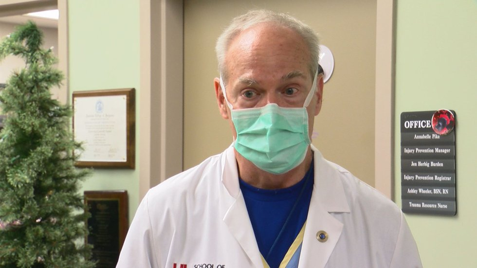 Dr. Brian Harbrecht, UofL Hospital Trauma Program Medical Director.