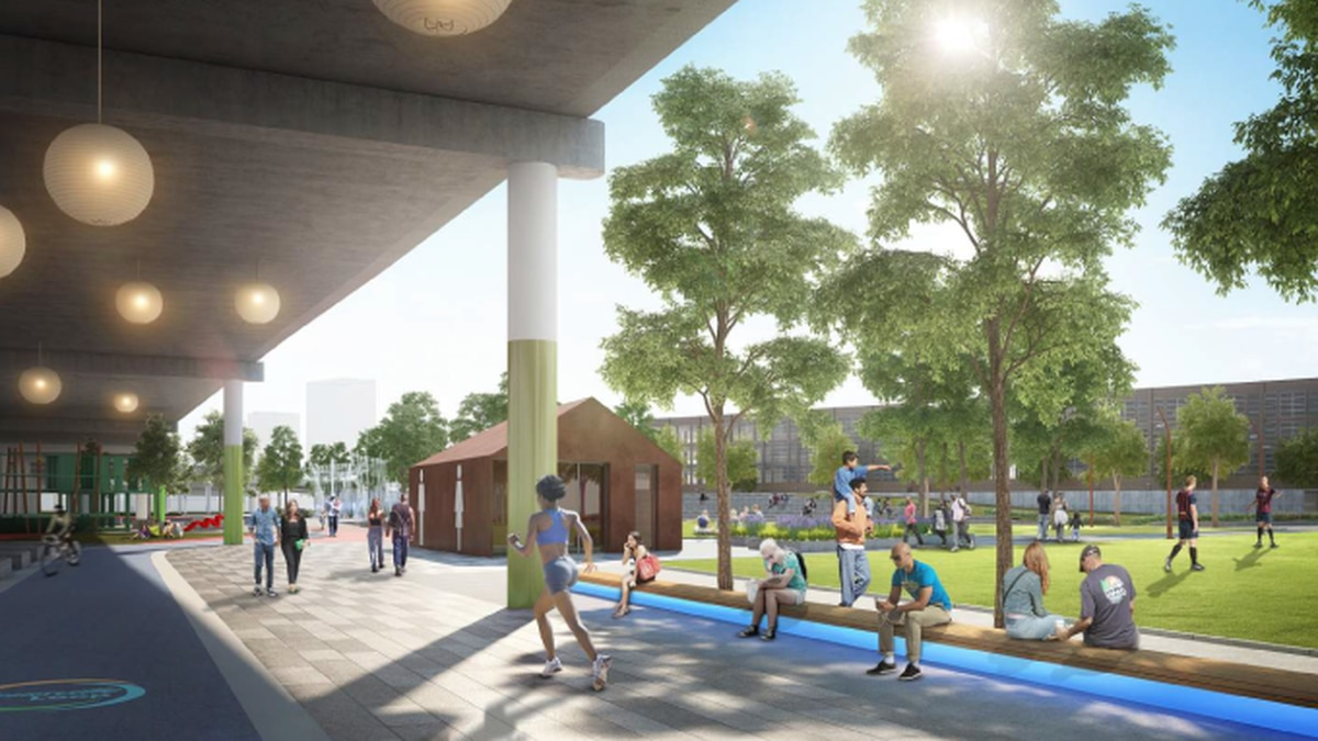 Rendering of Waterfront Park Phase IV