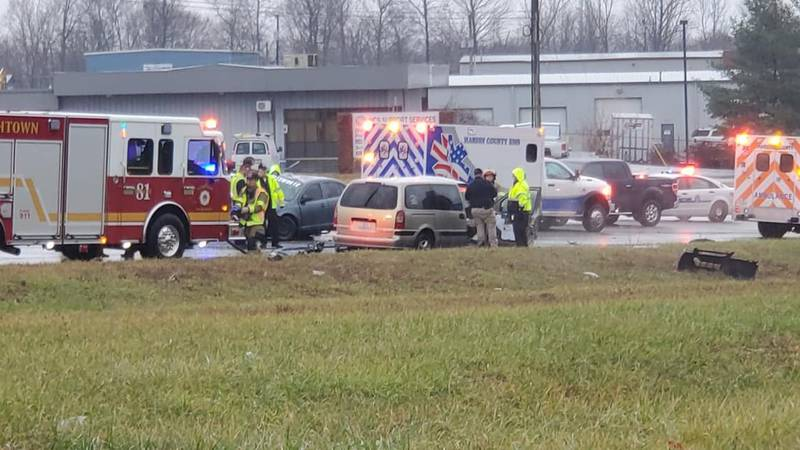 Two people were killed in a crash in Elizabethtown on Monday. (Source: Curtis Demientieff)