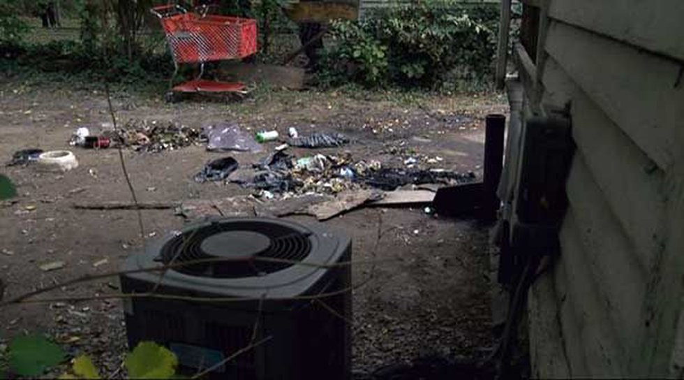 The site in the Iowa Avenue backyard where Ndao's body was burned. (Source: Todd Hoyer, WAVE 3...