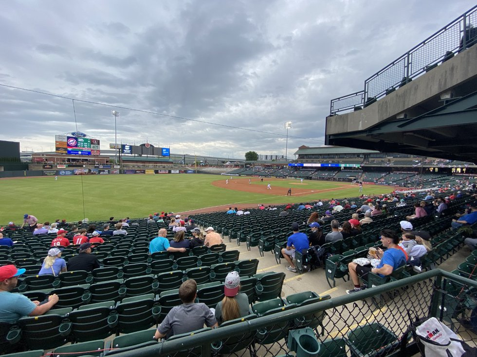 The Louisville Bats welcomed fans back into Louisville Slugger Field after more than a year.