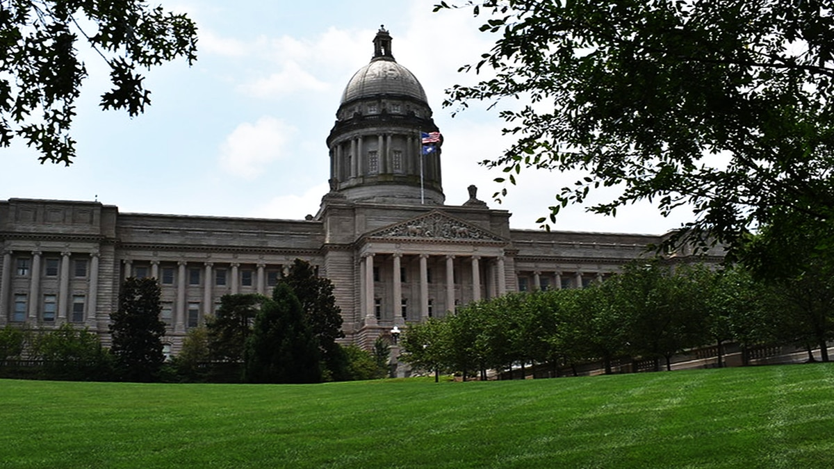 The Kentucky State Capitol in Frankfort