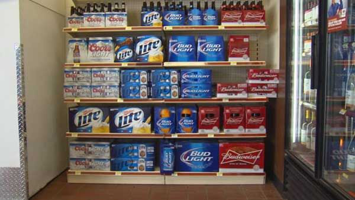 Beer displayed inside an Indiana convenience store. (Source: WAVE 3 News Archives)