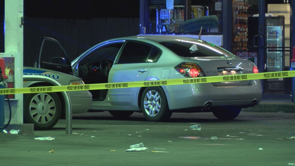 Louisville Metro police believe the wounded man drove to the convenience store for help after...