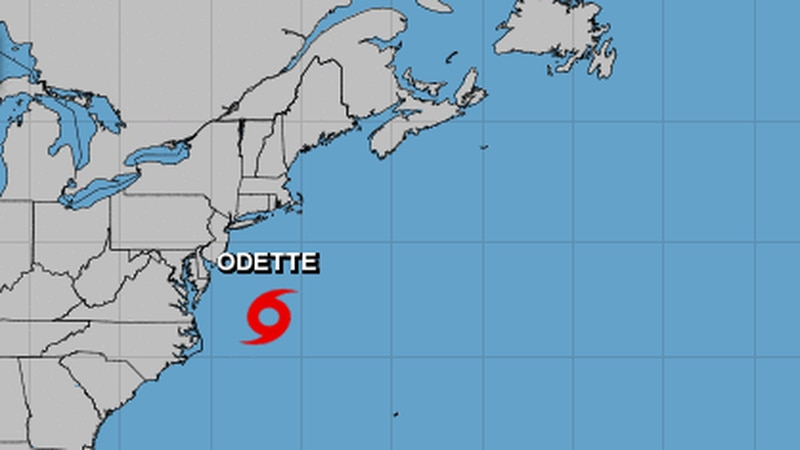 Tropical Storm Odette formed off the mid-Atlantic coast Friday afternoon, the National...