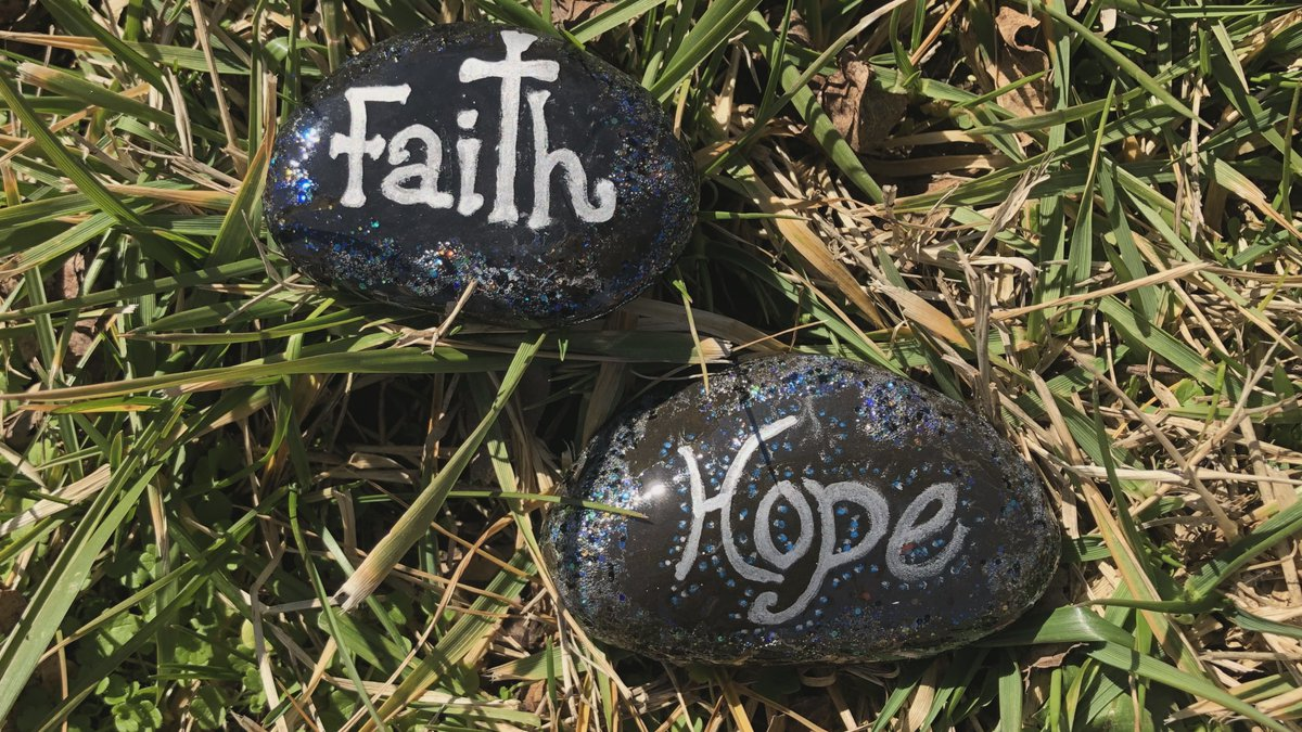 All of the rocks will have a short scripture quote on them along with the art.