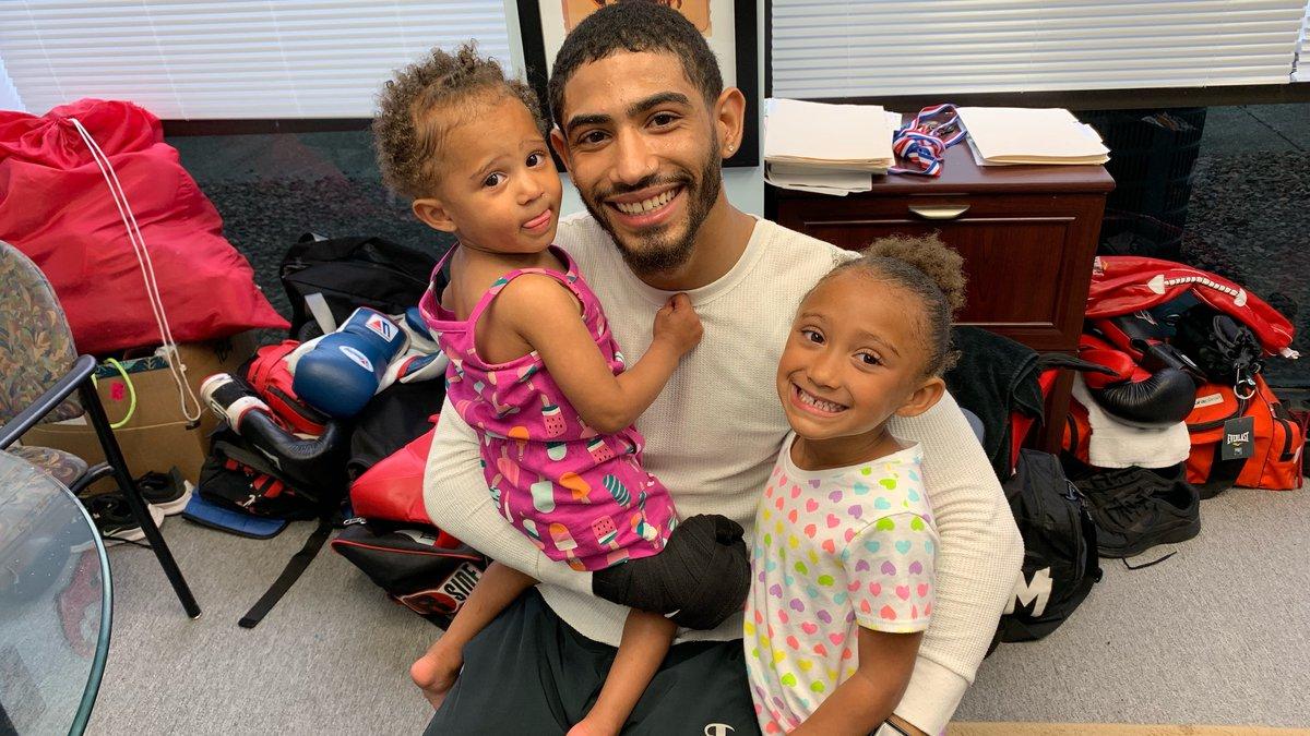 Carlos Dixon balances training and being a daddy.