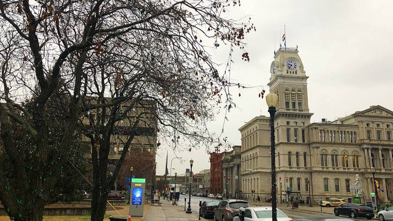 Louisville's City Hall is located at the intersection of 6th and Jefferson streets in the...