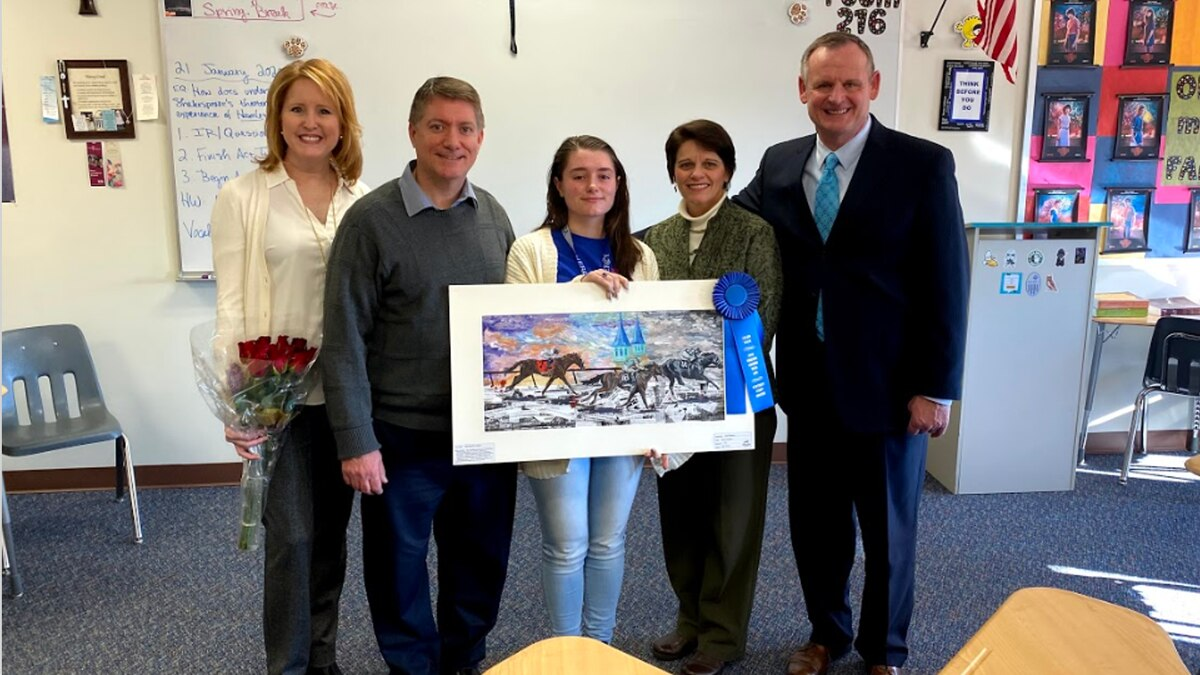 A senior at Mercy Academy was surprised in class Tuesday as the winner of this years Kentucky...